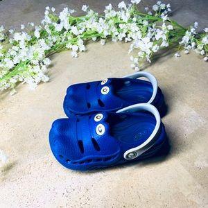 Polliwalks Crocs Toddler Size 10 Royal Blue